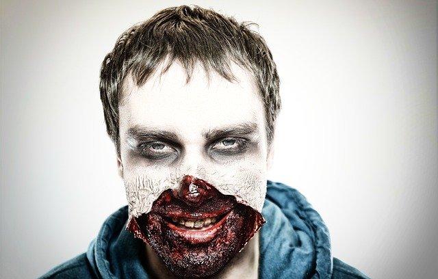 Make-up na imprezę halloweenową